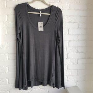 New Free People Gray Long sleeve Shirt Medium